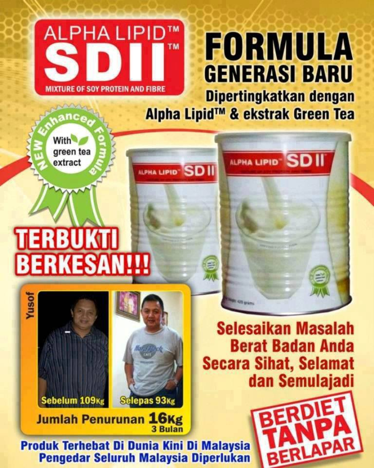 Kurus Dengan Alpha Lipid Slim Diet II (SD)