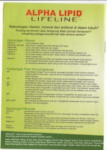 susu kolostrum alpha lipid lifeline new image malaysia